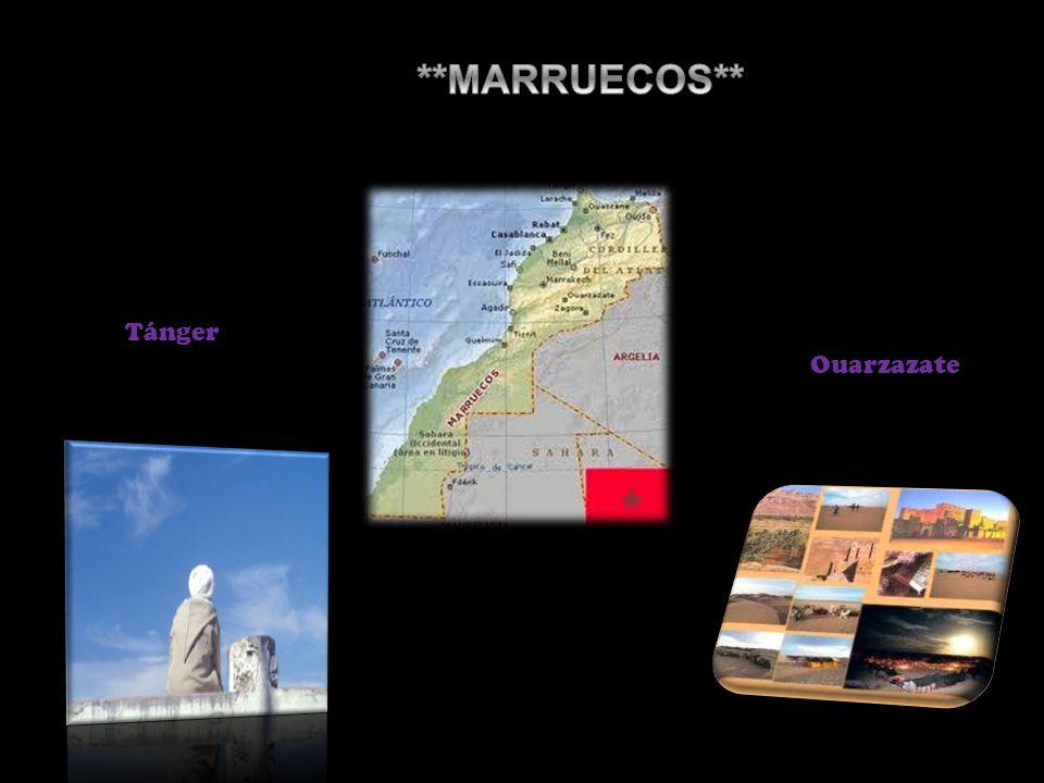 **MARRUECOS** Tánger Ouarzazate
