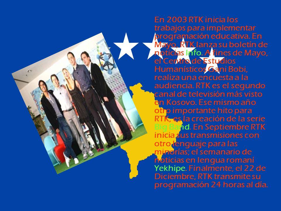 En 2003 RTK inicia los trabajos para implementar programación educativa.