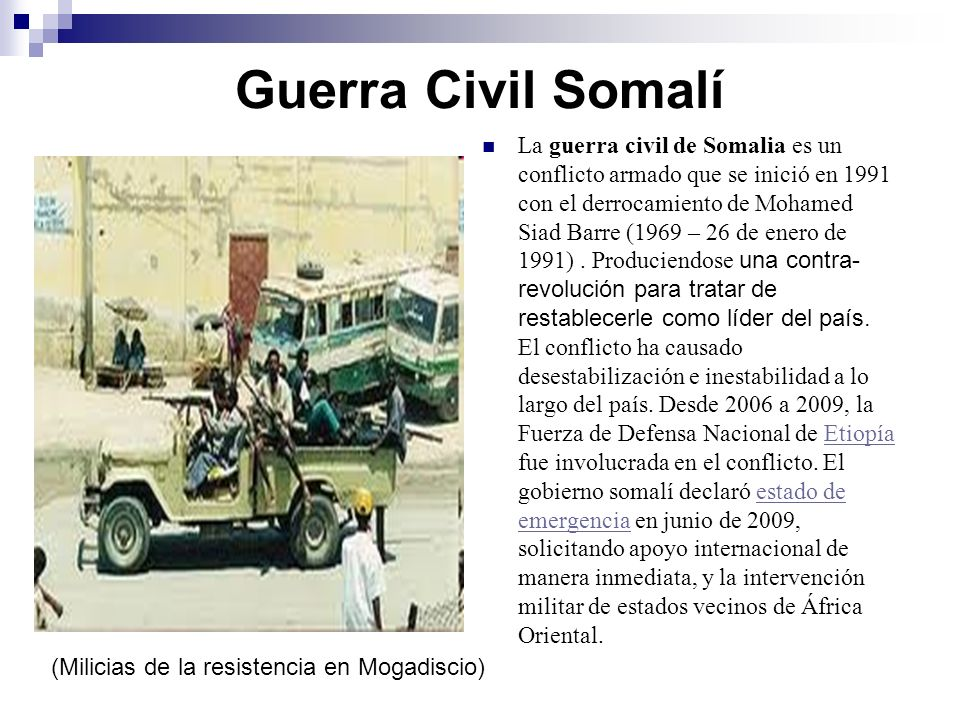 Guerra Civil Somalí