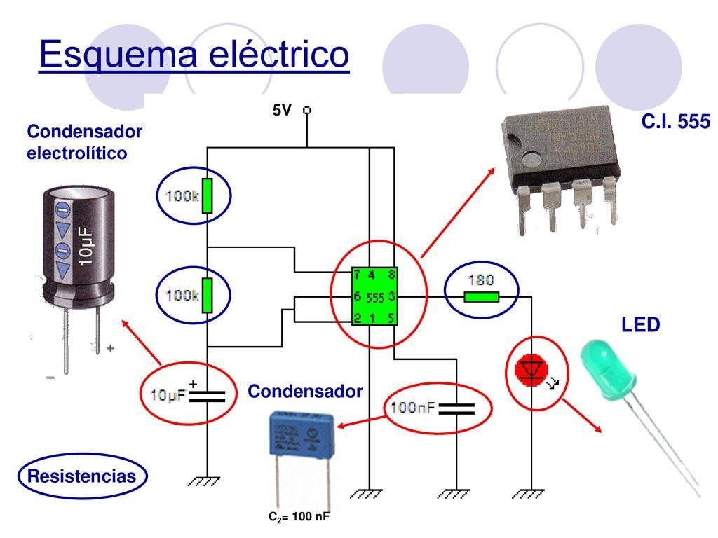 Circuito Integrado 555 : Circuito integrado electrónica prácticas ppt descargar