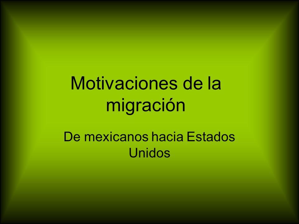 Motivaciones de la migración