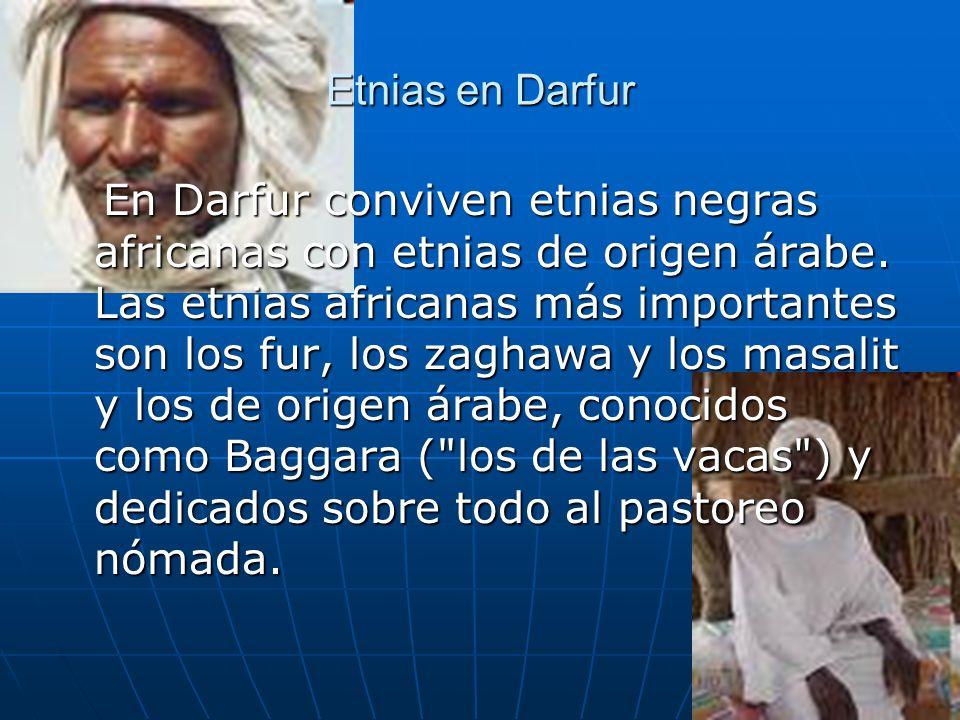 Etnias en Darfur