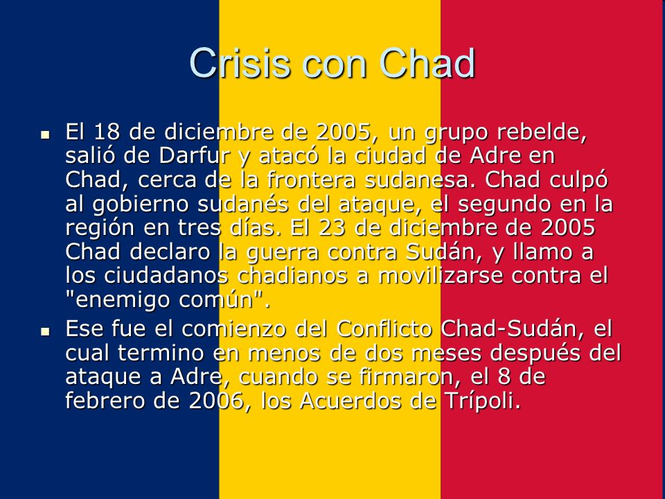 Crisis con Chad