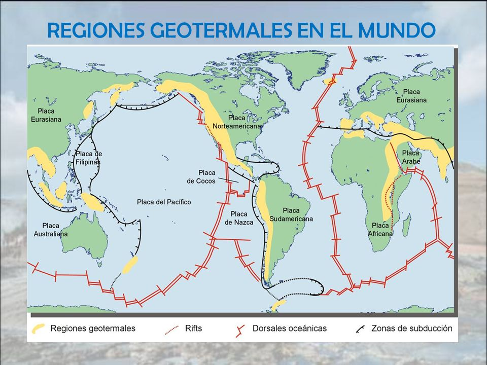 REGIONES GEOTERMALES EN EL MUNDO