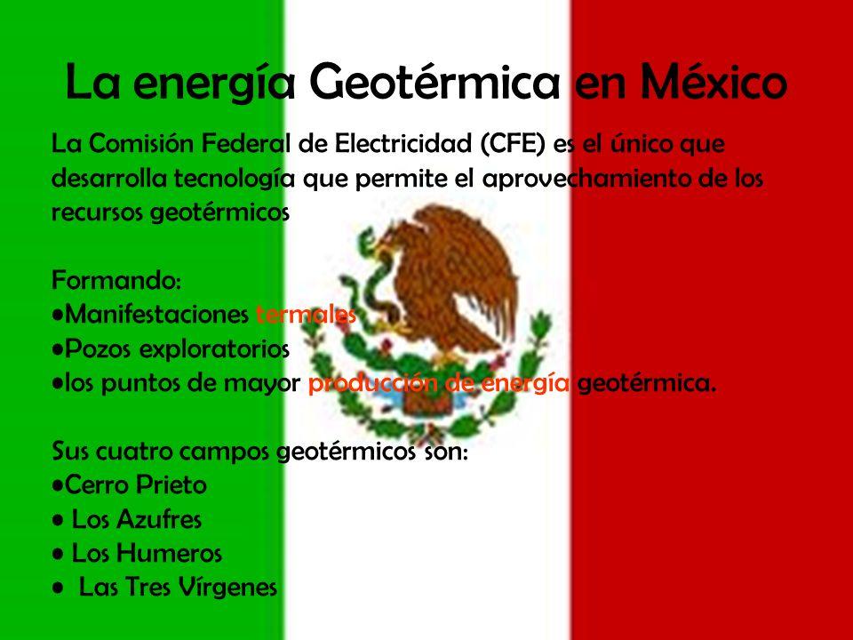 La energía Geotérmica en México