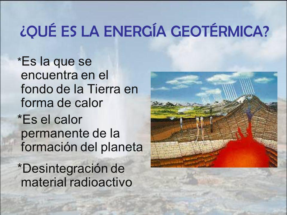¿QUÉ ES LA ENERGÍA GEOTÉRMICA