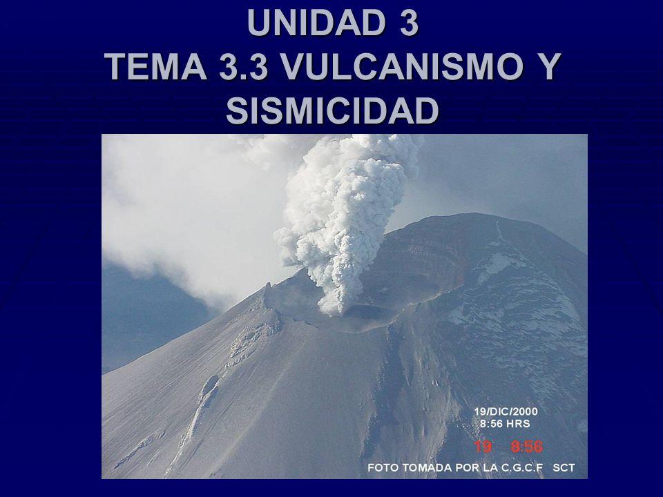 UNIDAD 3 TEMA 3.3 VULCANISMO Y SISMICIDAD