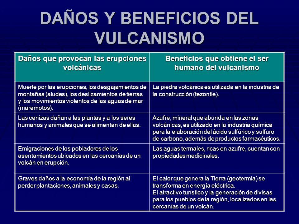 DAÑOS Y BENEFICIOS DEL VULCANISMO