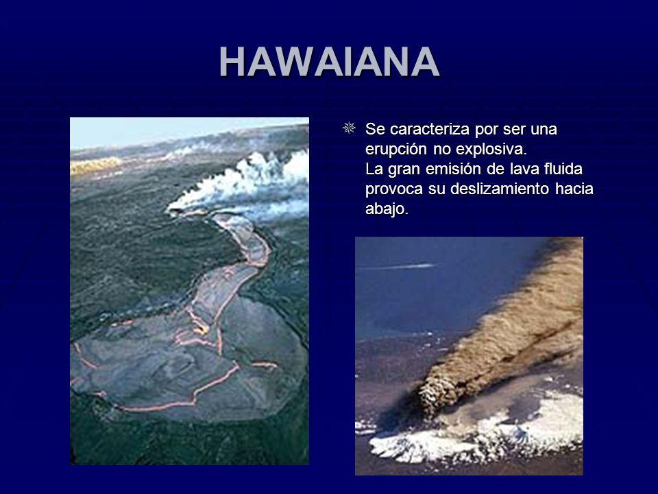HAWAIANA Se caracteriza por ser una erupción no explosiva.