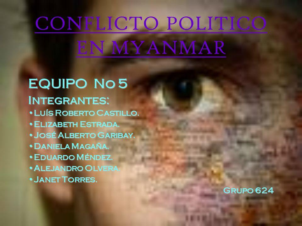 CONFLICTO POLITICO EN MYANMAR