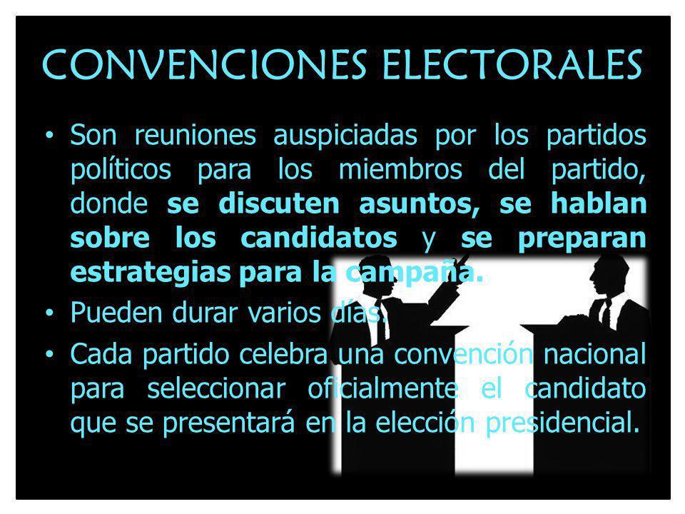 CONVENCIONES ELECTORALES