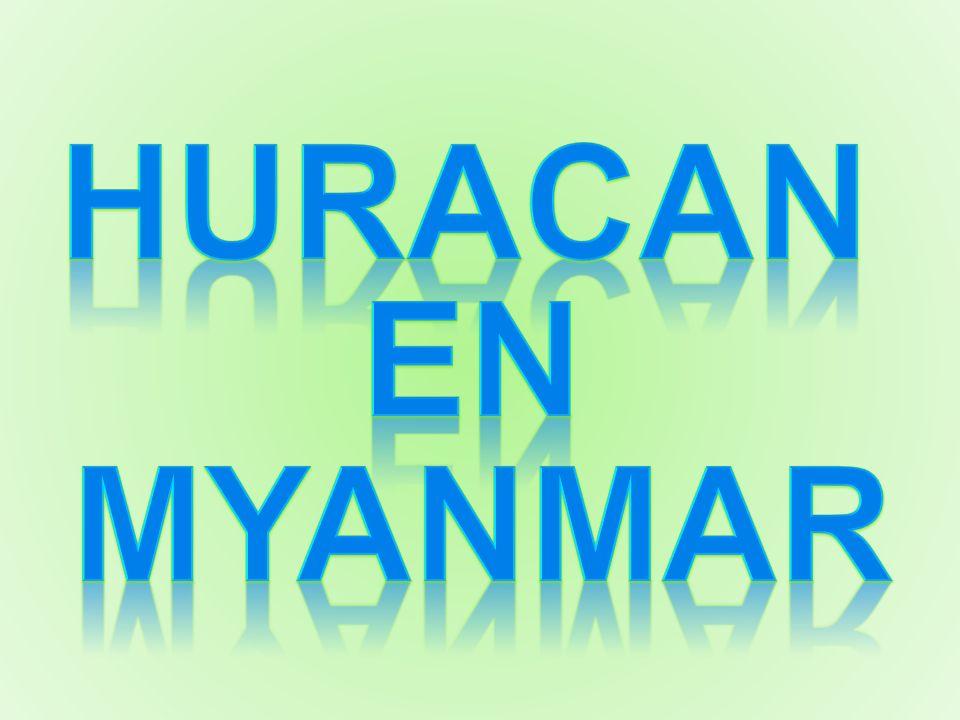 HURACAN en MYANMAR