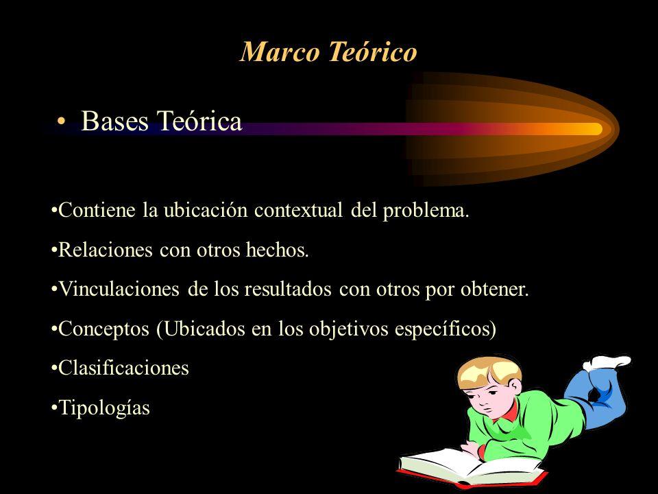 Marco Teórico Bases Teórica