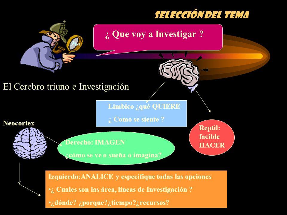 El Cerebro triuno e Investigación
