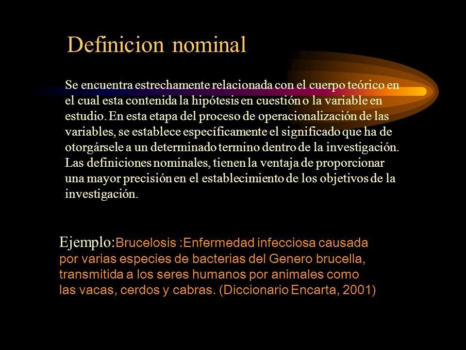 Definicion nominal
