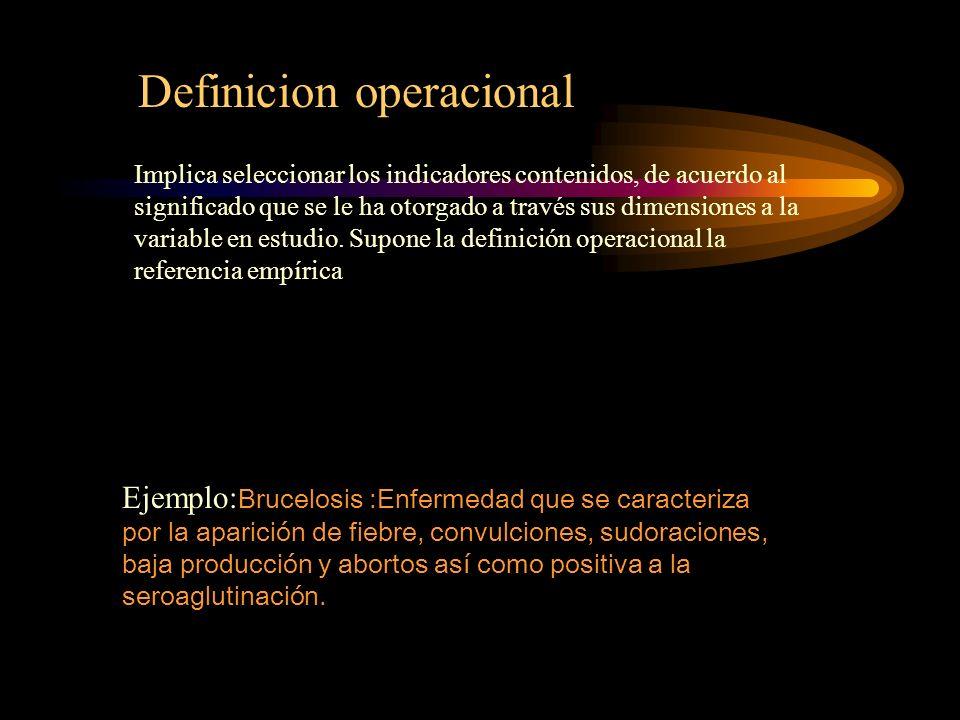 Definicion operacional