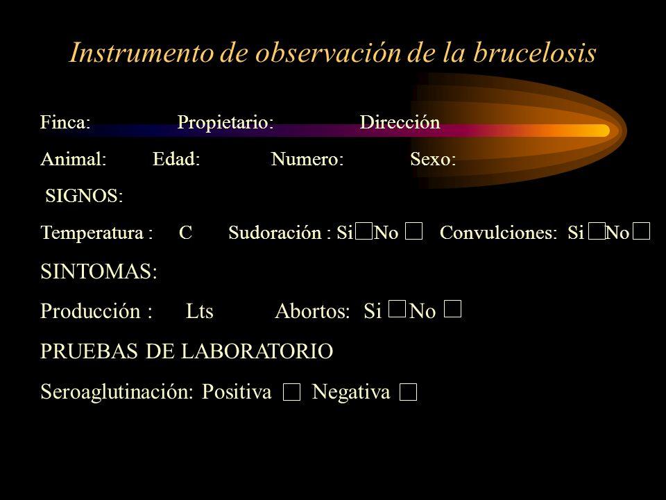 Instrumento de observación de la brucelosis