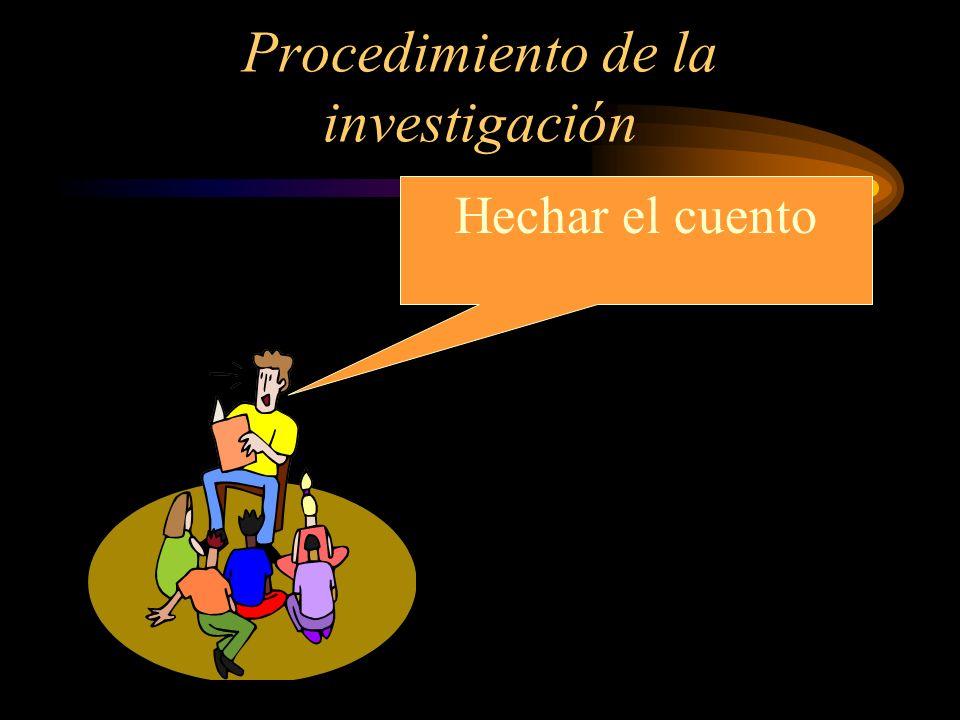 Procedimiento de la investigación