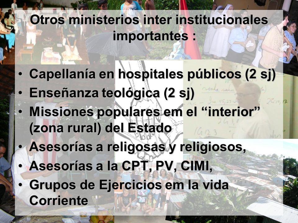 Otros ministerios inter institucionales importantes :