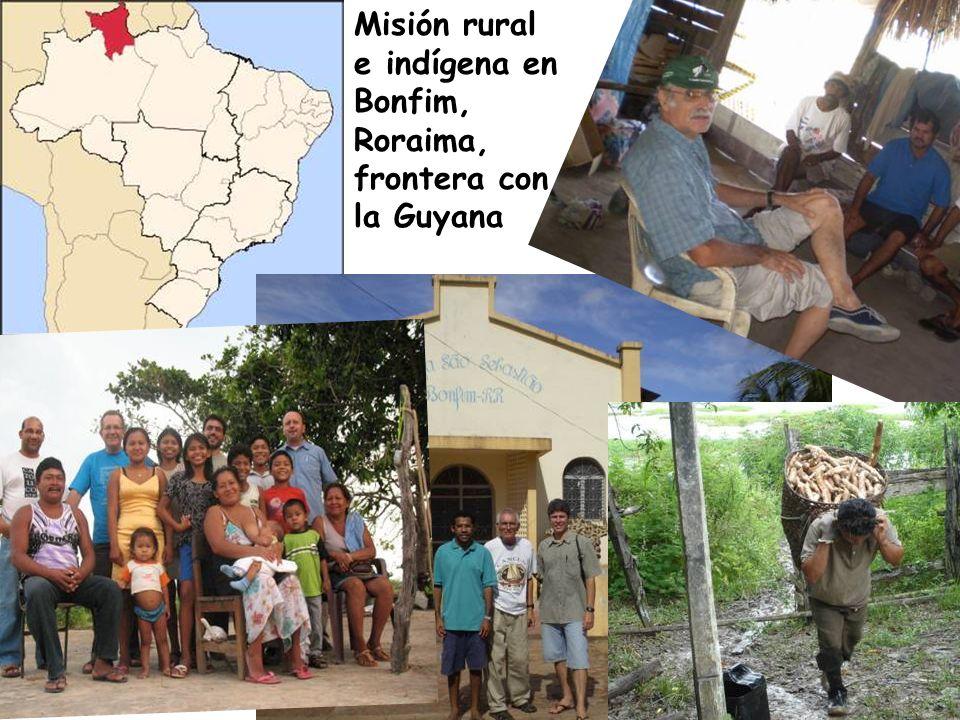 Misión rural e indígena en Bonfim, Roraima, frontera con la Guyana