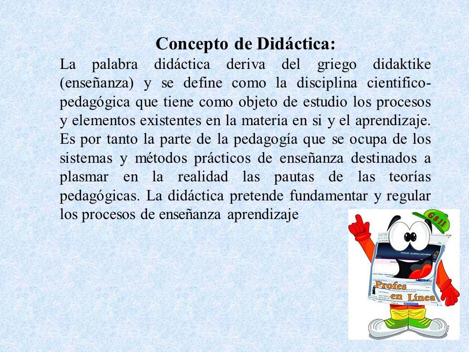 Concepto de Didáctica: