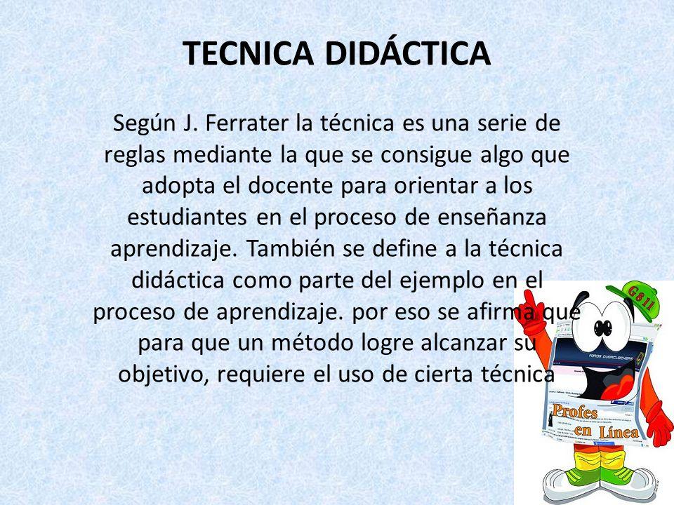 TECNICA DIDÁCTICA