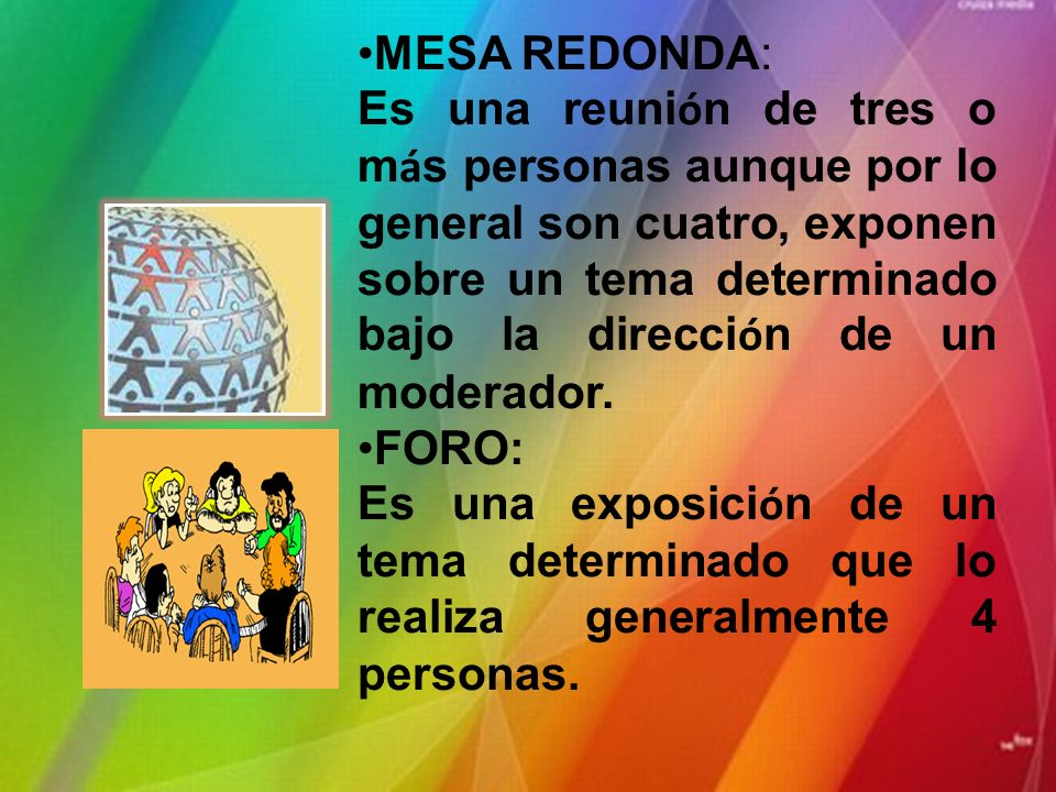 MESA REDONDA: