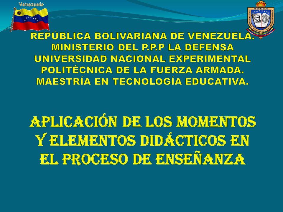 REPÚBLICA BOLIVARIANA DE VENEZUELA. MINISTERIO DEL P. P