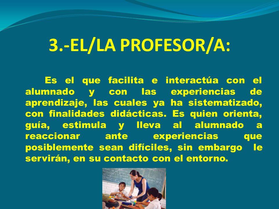 3.-EL/LA PROFESOR/A: