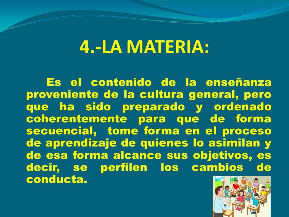 4.-LA MATERIA: