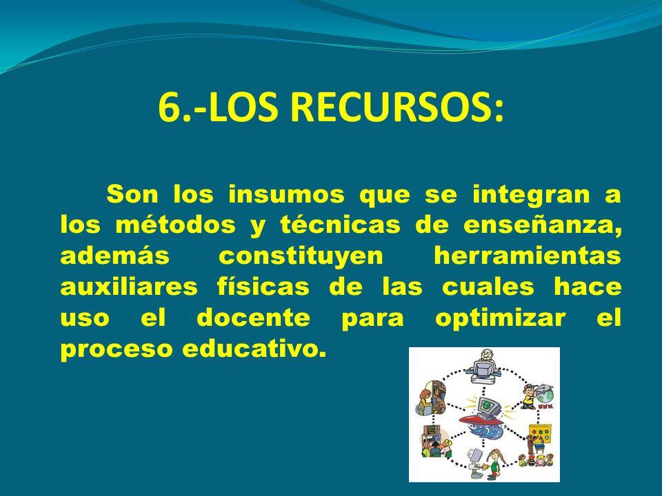 6.-LOS RECURSOS: