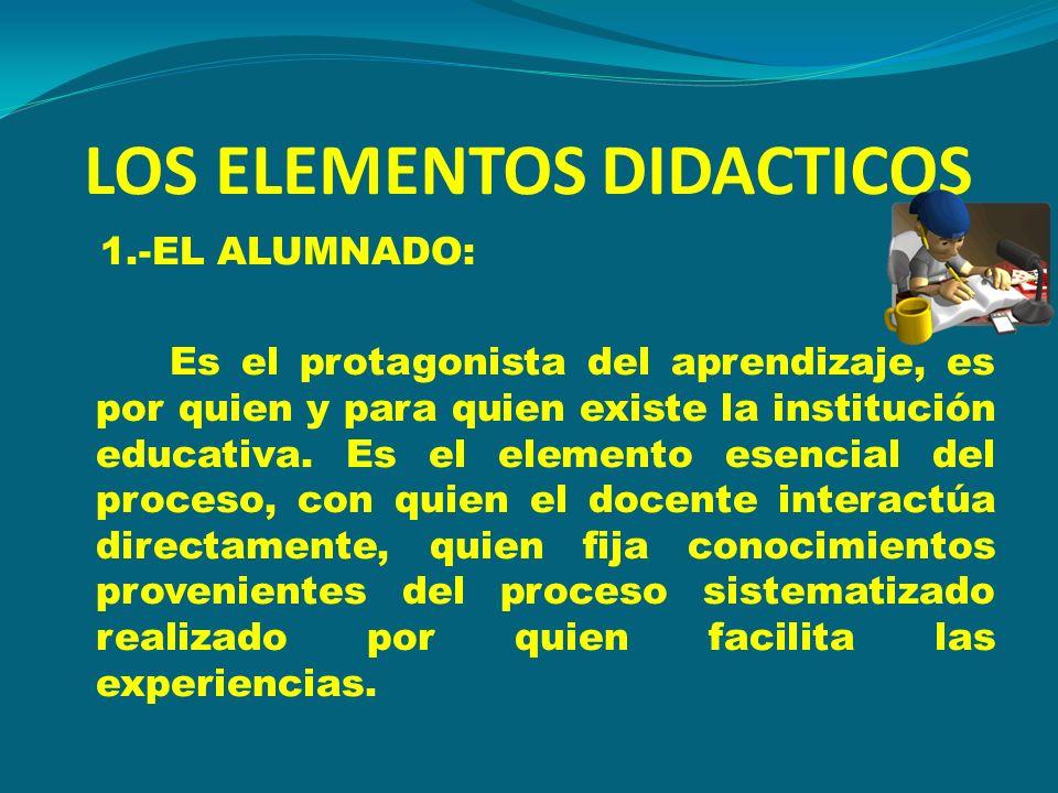 LOS ELEMENTOS DIDACTICOS