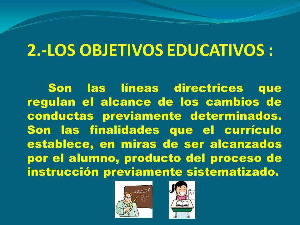 2.-LOS OBJETIVOS EDUCATIVOS :