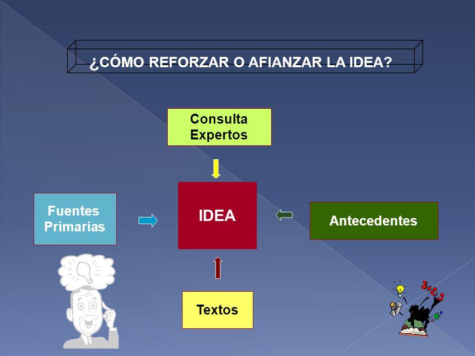 ¿CÓMO REFORZAR O AFIANZAR LA IDEA