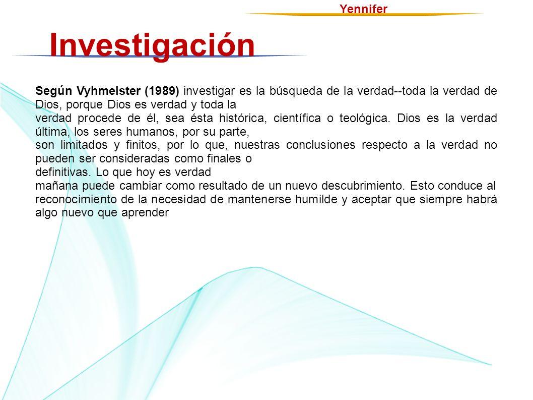 Investigación Yennifer