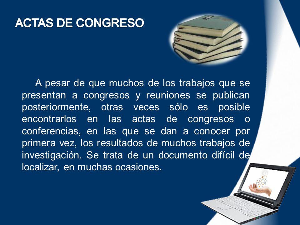 ACTAS DE CONGRESO