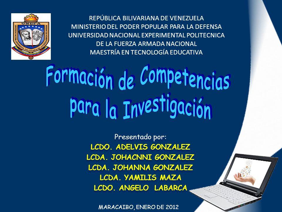 Formación de Competencias LCDA. JOHACNNI GONZALEZ