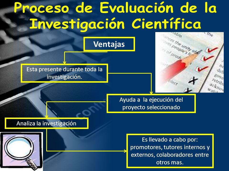 Proceso de Evaluación de la Investigación Científica