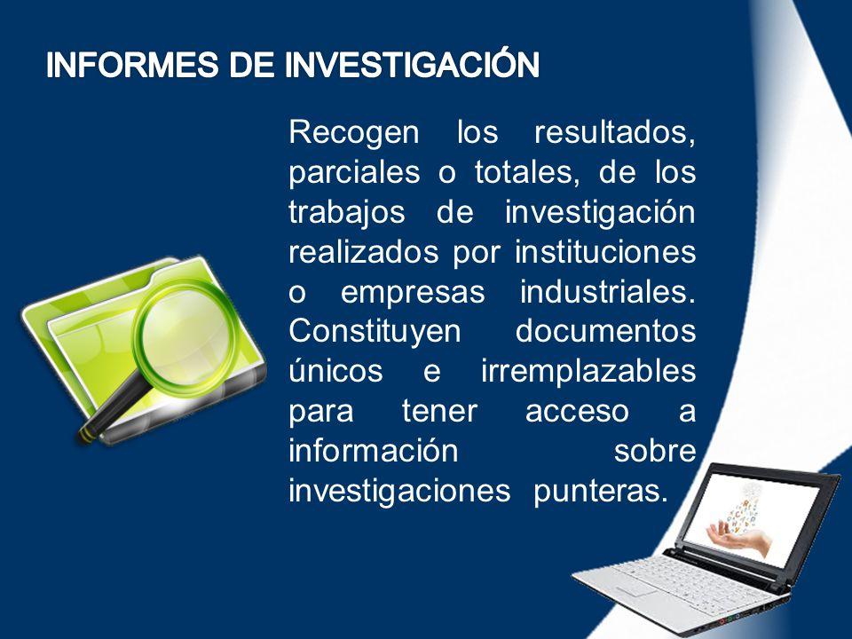 INFORMES DE INVESTIGACIÓN