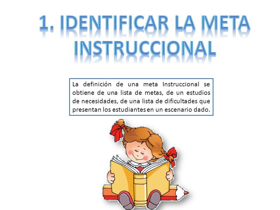 1. Identificar la meta Instruccional