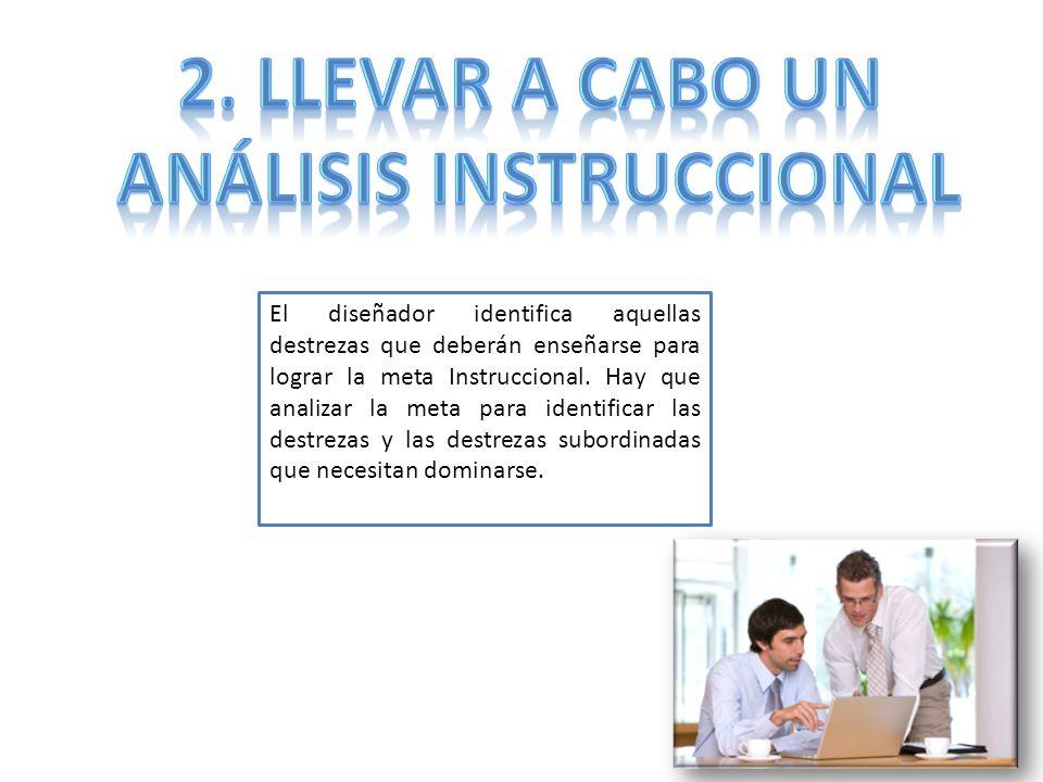 Análisis Instruccional