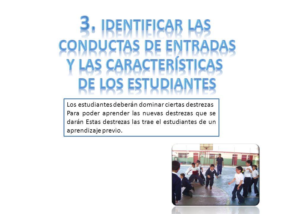 3. Identificar las Conductas de entradas Y las características