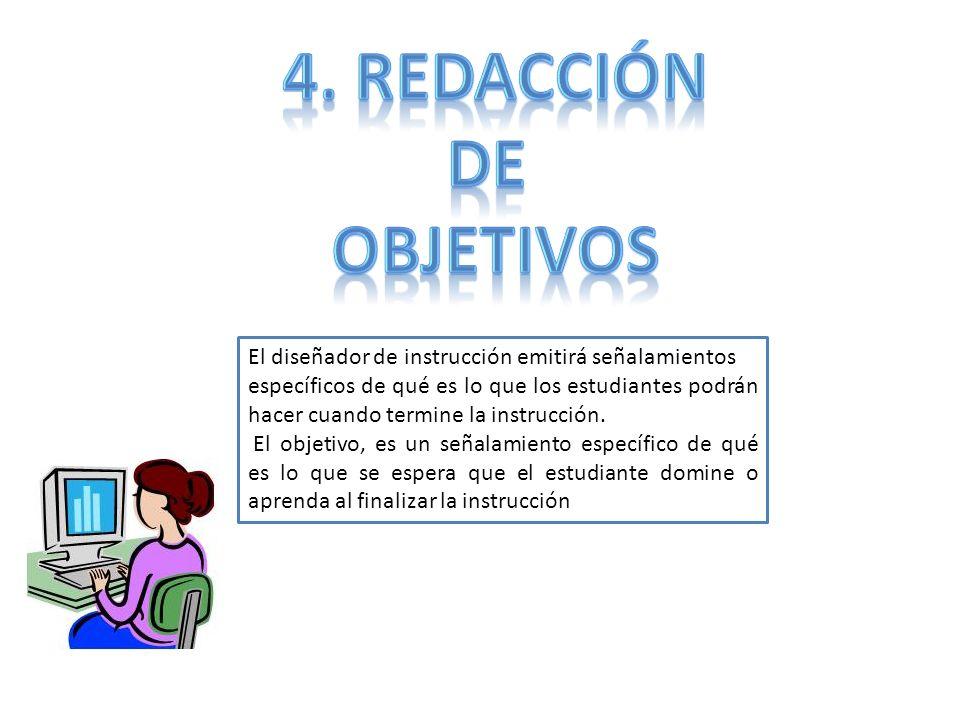 4. Redacción De objetivos