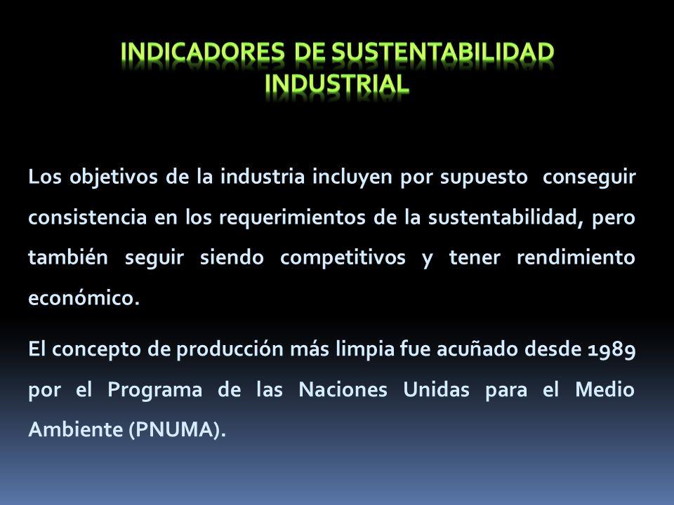 INDICADORES DE SUSTENTABILIDAD industrial