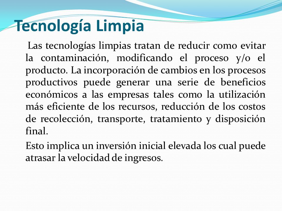 Tecnología Limpia