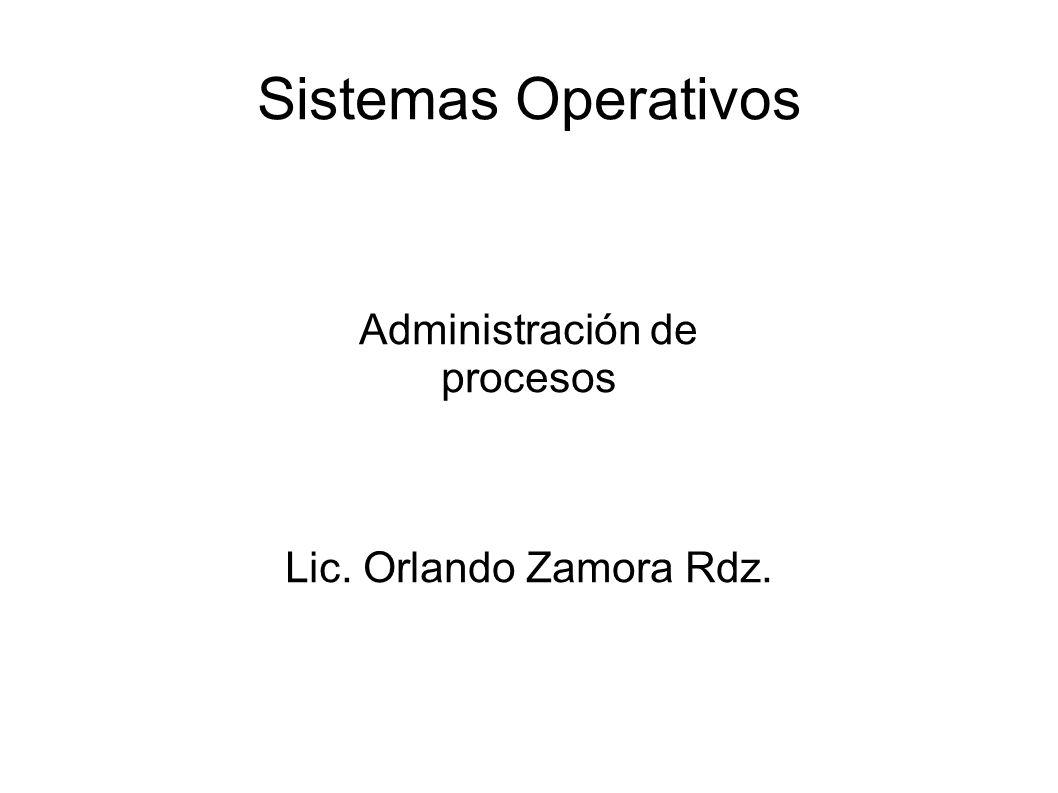 Administración de procesos Lic. Orlando Zamora Rdz.
