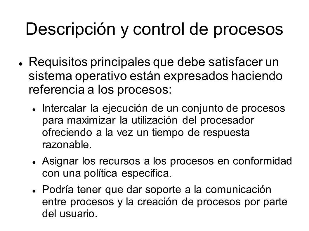 Descripción y control de procesos
