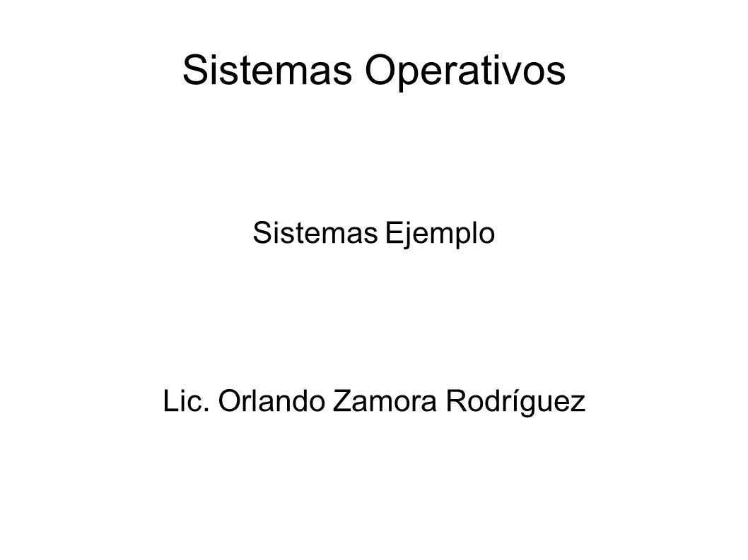 Sistemas Ejemplo Lic. Orlando Zamora Rodríguez