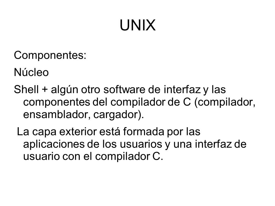 UNIX Componentes: Núcleo