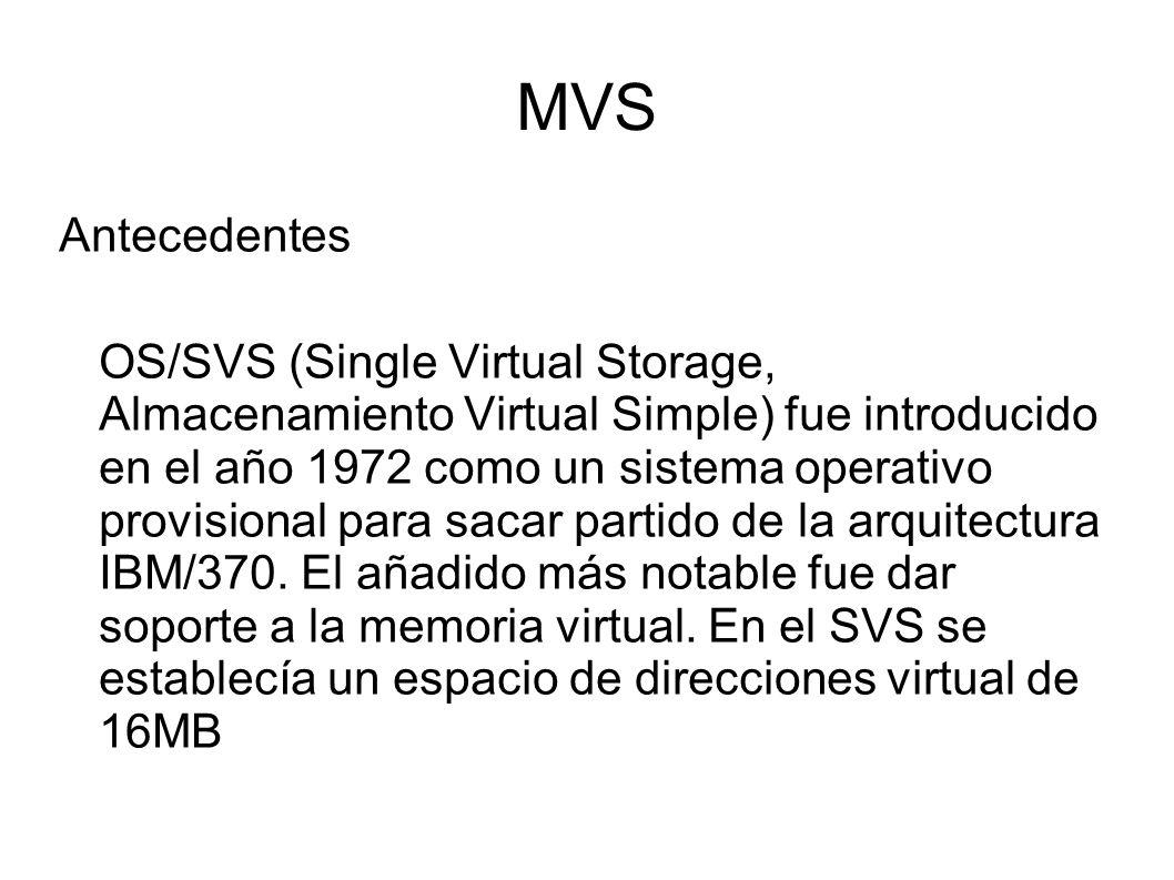 MVS Antecedentes.